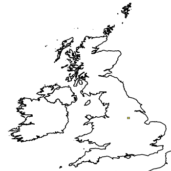 Map of the UK with areas shaded to show the UK distribution of